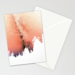 White pine trees Stationery Cards