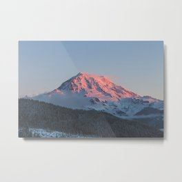 Sunset on Mount Rainier Metal Print