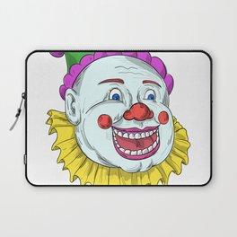 Vintage Circus Clown Smiling Drawing Laptop Sleeve