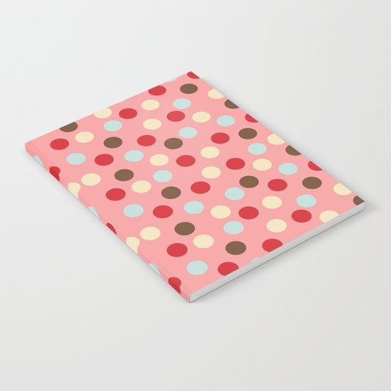 Christmas dots pink Notebook