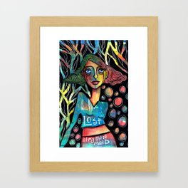 Lost in my own mind Framed Art Print
