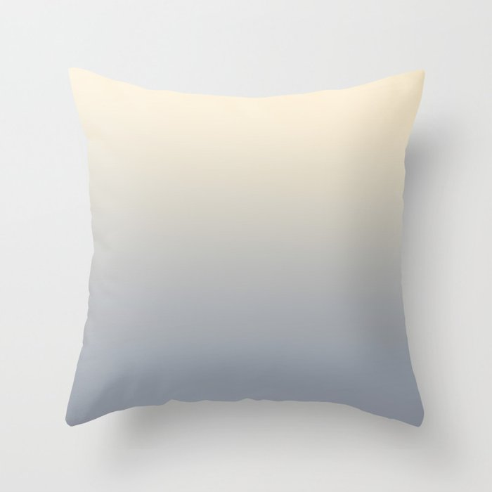 STONE COLD - Minimal Plain Soft Mood Color Blend Prints Throw Pillow