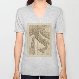 Map of Italy (1851) Unisex V-Neck