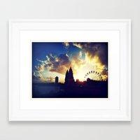 ferris wheel Framed Art Prints featuring Ferris Wheel by Bosco