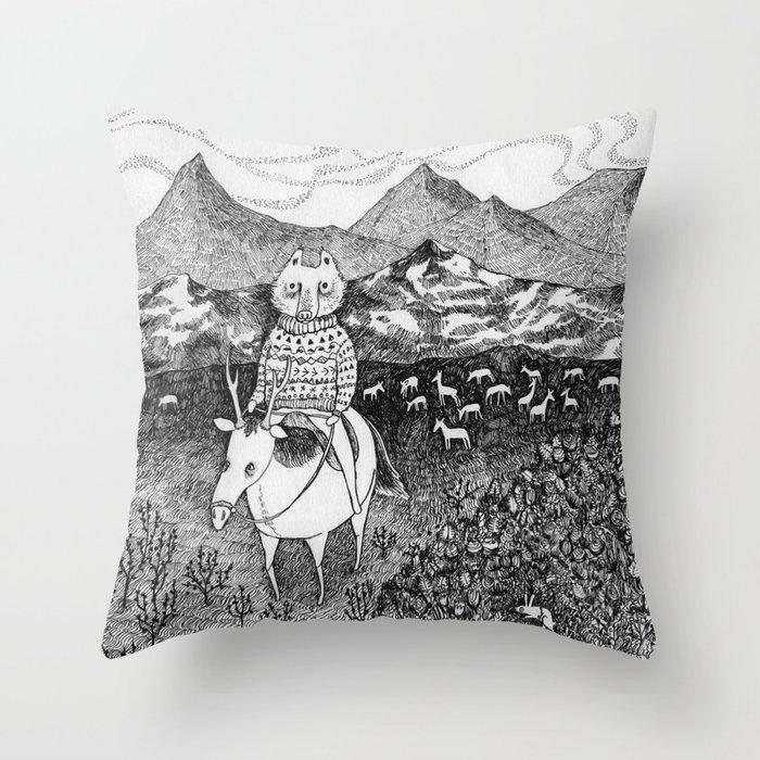 Sami Fox Throw Pillow By Ulrikakestere Society6