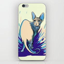 Sphynx Cat - Blue Purple Vanilla - Cat Lover iPhone Skin
