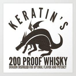 Keratin's Dragon Distilled Whisky Art Print