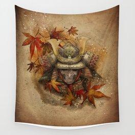 Late Autumn Samurai Wall Tapestry