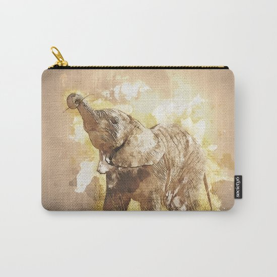 Elephant - It's Tea Time! Carry-All Pouch