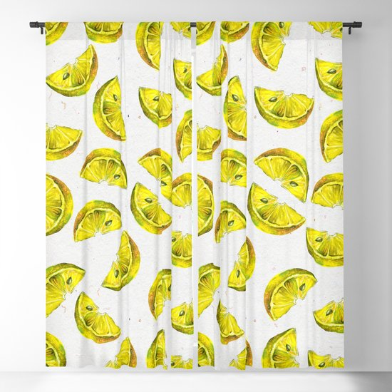 Lemon Slices Pattern White by lavieclaire