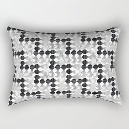 Black pear curvy funny shaped lines pattern Rectangular Pillow