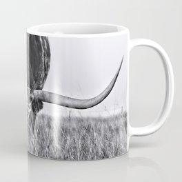 B&W Longhorn Coffee Mug
