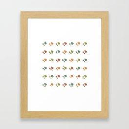 The leaves fall Framed Art Print