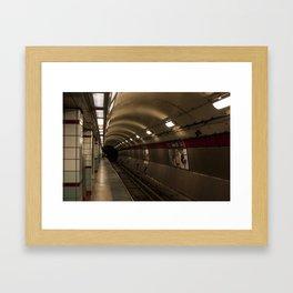 Subway To Hell Framed Art Print