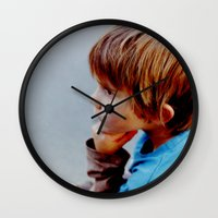 mike wrobel Wall Clocks featuring Mike! by JulleK