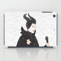 maleficent iPad Cases featuring Maleficent by Eltina Giannopoulou