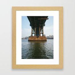America's Cathedrals - Manhattan Bridge Framed Art Print