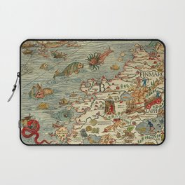 Medieval Map Scandinavia 1539 Laptop Sleeve