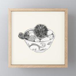 Chestnut Burr & Pottery Framed Mini Art Print