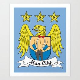 Man City Art Print