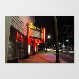 Fine Arts Theatre Neon Sign - Los Angeles, CA Canvas Print