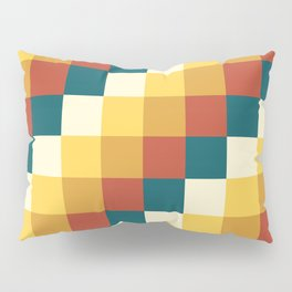 My Honey Pot - Pixel Pattern in yellow tint colors Pillow Sham