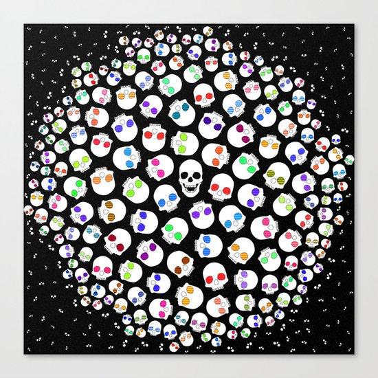 Skulls In Space Canvas Print