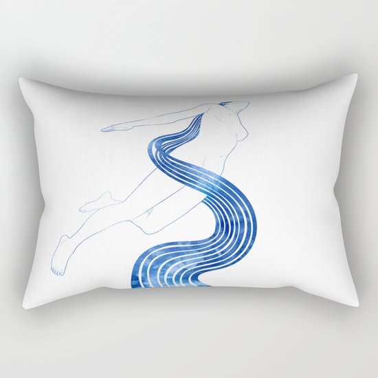 Water Nymph XLVIII Rectangular Pillow