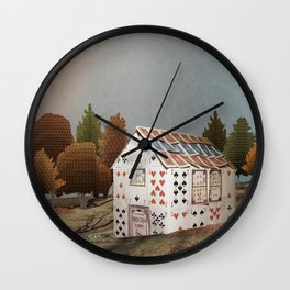 Forget about your house of cards Wall Clock