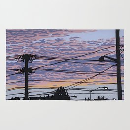 Telephone Poles at Sunset 1 Rug