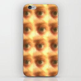 Creepy cartoon eyes pattern iPhone Skin
