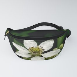 White blossoming flower photo Fanny Pack