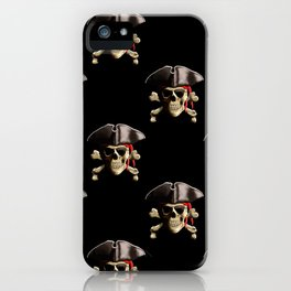 Jolly Roger And Hat iPhone Case