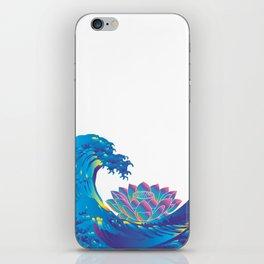 Hokusai Rainbow & Lotus iPhone Skin