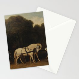 George Stubbs - Phaeton with a Pair of Cream Ponies and a Stable-Lad Stationery Cards