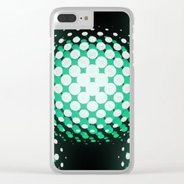 Green Visual Daze Clear iPhone Case