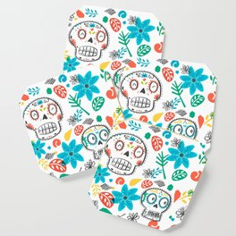 Summer sugar skulls Coaster