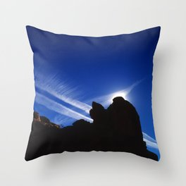 In the Vortex of a Sci-Fi Jetstream Throw Pillow