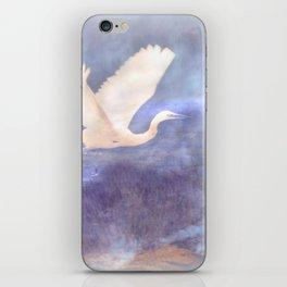 White bird iPhone Skin
