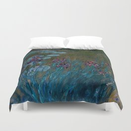 """Claude Monet """"Irises and Water-Lilies"""", 1914 - 1917 Duvet Cover"""