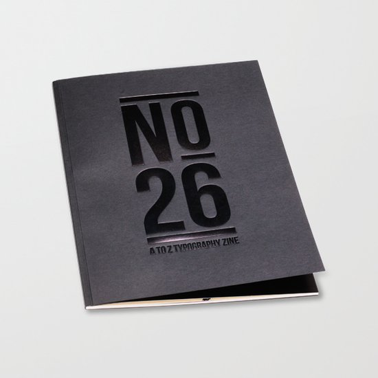 No.26 - A to Z Typography Zine Editions