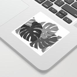 Monstera Leaves Black and White #decor #society6 #buyart Sticker