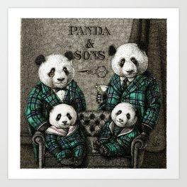 Panda Family Portrait Art Print