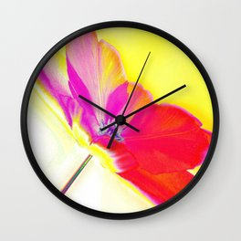 Spring Abstract Wall Clock