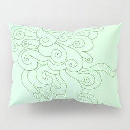 Green Puffs Pillow Sham