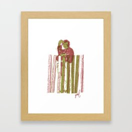 Billygoat with a blowtorch Framed Art Print