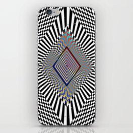 Matrix processor. Holographic hypnotic pattern. iPhone Skin