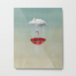 Embracing the Rain Metal Print