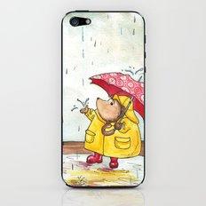 Rainy Day Hedgehog iPhone & iPod Skin