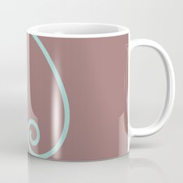 Hand-Drawn Mint Blue Letter D Throw Pillow Coffee Mug